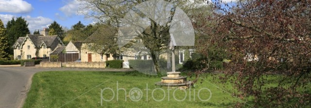 Summer view, Laxton village green, Northamptonshire county
