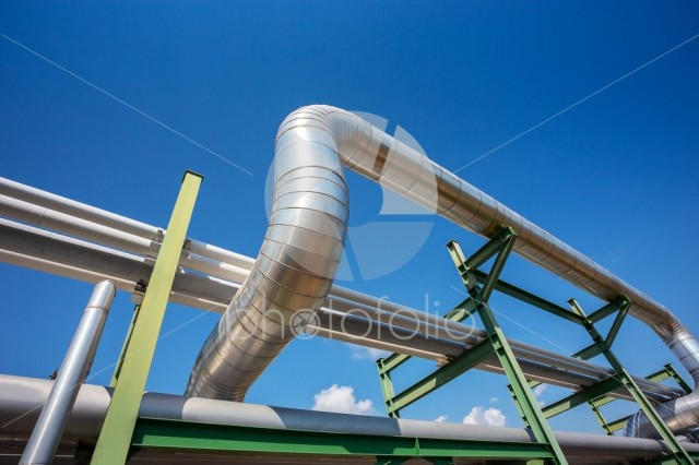 Insulation of steam pipe for steam transportation on lack in industrial area
