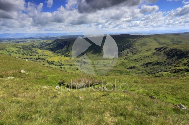 View through the Swindale valley, Lake District National Park