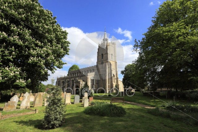 St Marys parish church, Burwell village, Cambridgeshire; England
