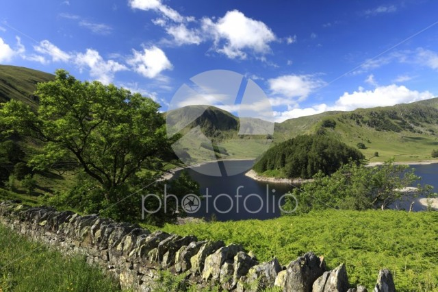 Summer view over Haweswater reservoir, Lake District