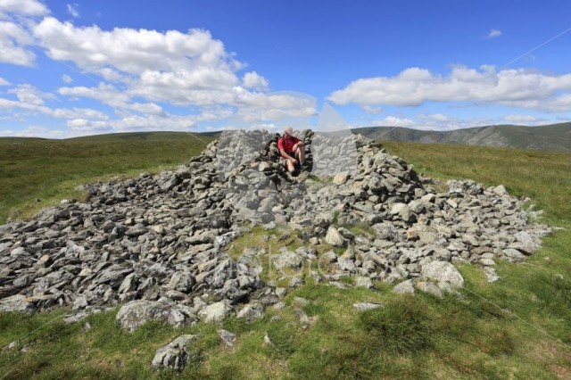 Walker, Summit cairn on Selside Fell, Mardale Common