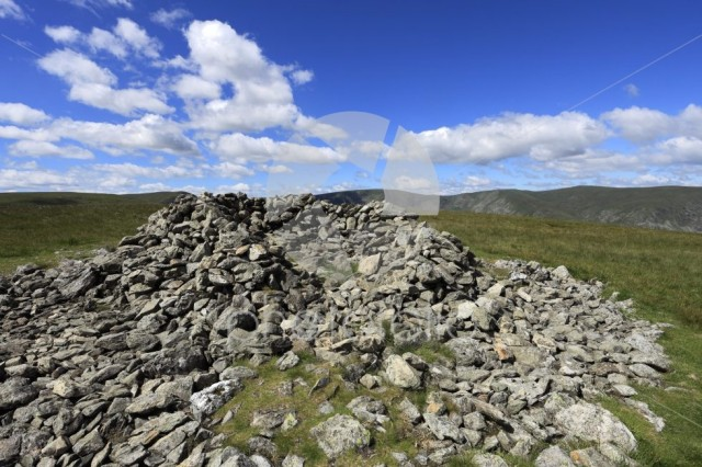 Summit cairn on Selside Fell, Mardale Common, Lake District