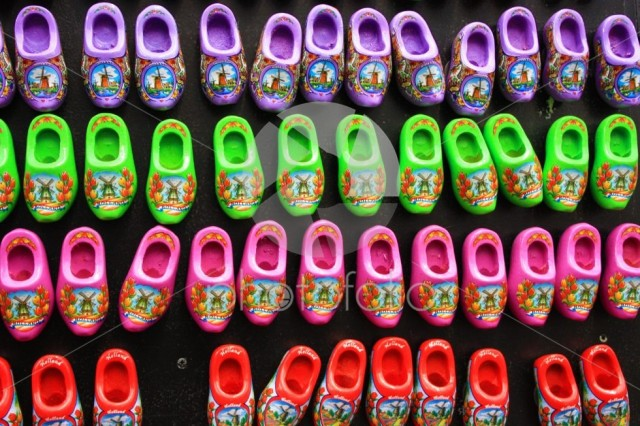 Dutch clogs known all over the world. souvenirs from Amsterdam