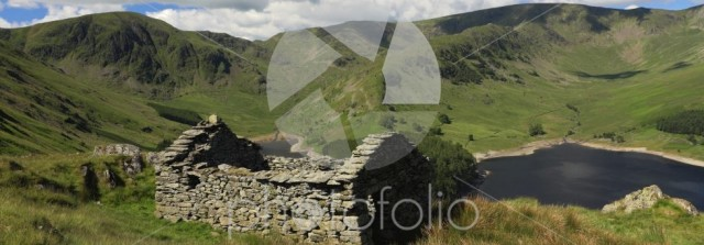 Ruined Bothy above Haweswater reservoir, Mardale valley