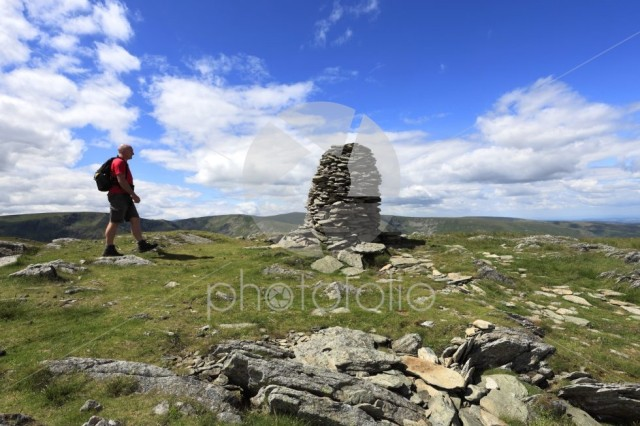 Walker, Cairns on Artle crag, Branstree Fell, Mardale Common