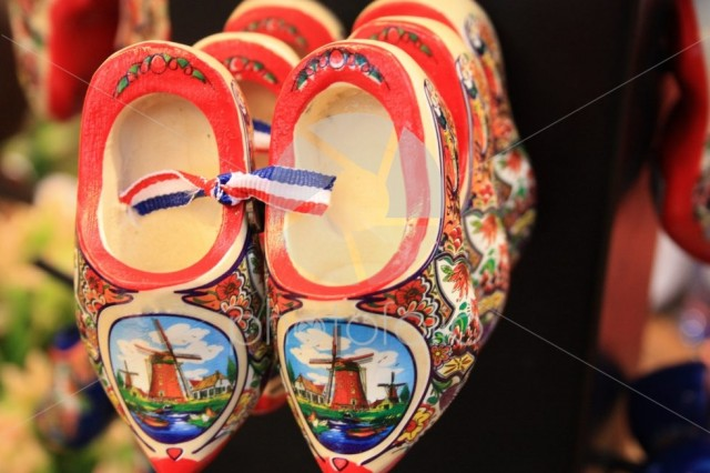Souvenirs and gifts from the Netherlands. Amsterdam shoes. Clogs