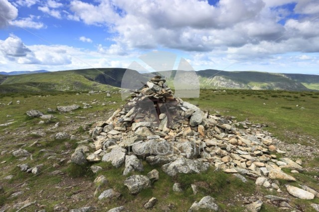 Summit cairn on Harter fell, Mardale Common, Lake District