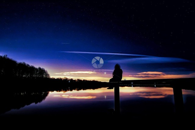 Venus over the lake
