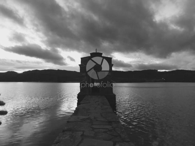 Lake Windermere black and white