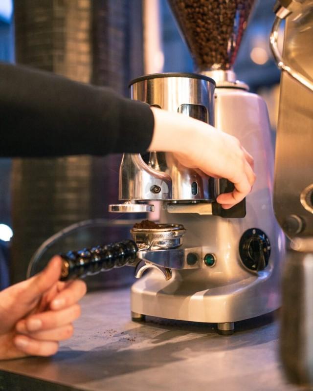 Coffee Bean Grinder Grinding Coffee Grounds