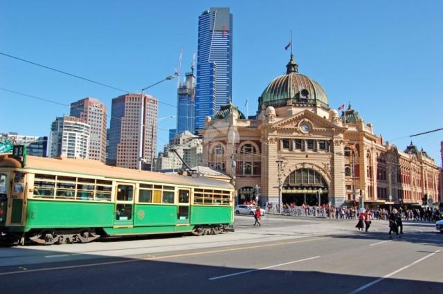 Tram At Flinders Station