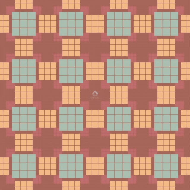 Pattern from squares on red seamless background