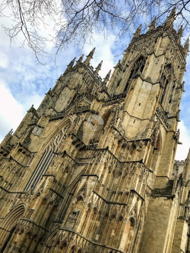 Gazing up at York Minster