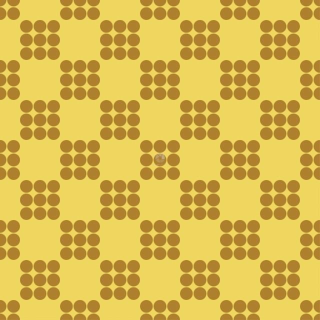 Dark orange dots on yellow seamless ackground