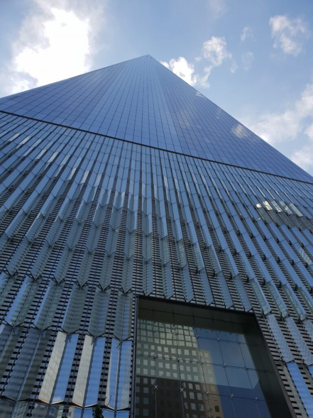 The Freedon Tower New York City View looking up from the ground
