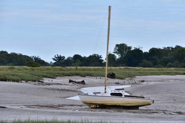 Sailing boat on River Colne
