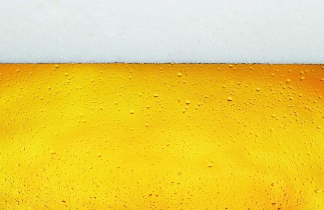 Macro Beer with foam