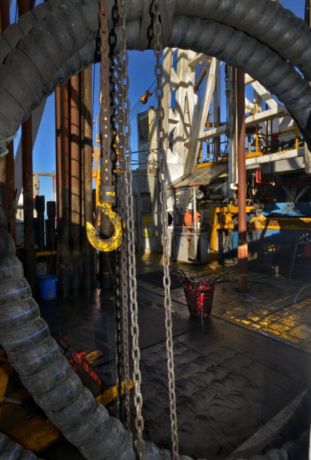 Drill floor activity on Bass Strait oil rig