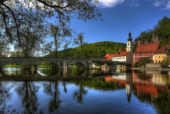 Gorgeous Bridge In Kallmyunts Bavaria HD Desktop Background
