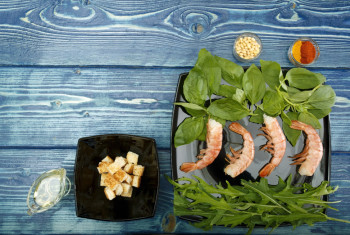 Ingredients for the shrimp salad
