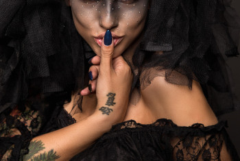 Scary Halloween Bride with Concept Scary Makeup