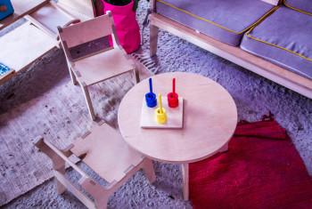 The development of the child. Kindergarten. Room for baby. Children room. Game Room. Creative room. Restroom. Room for games.