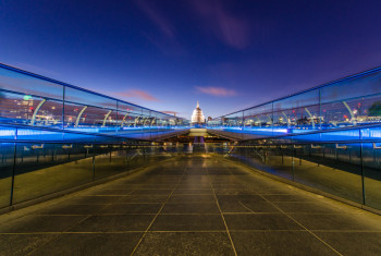 Bridge to St Pauls Blue Hour-9878