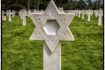 War Grave Of Melvin Krakow In The American Cemetery, Omaha Beach