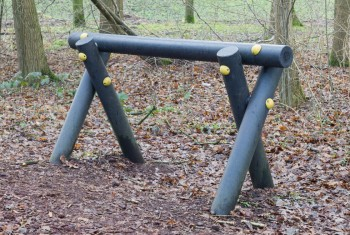 Fitness equipment in a forest – One stage of many