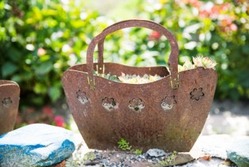 Home Made Cast Iron Flower Pots and Outdoors Decorations